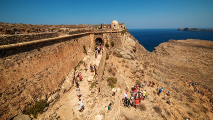 Crete, Greece: Venetian fort in Gramvousa island