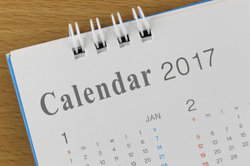 Picture show the Text on calendar in 2017 year.