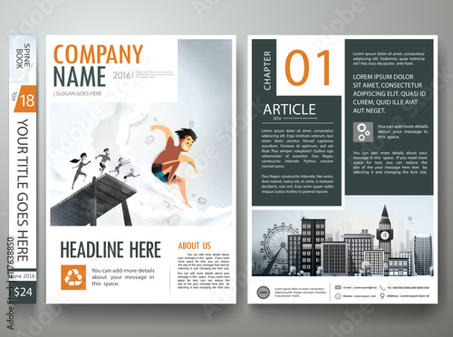 Brochure design template vector flyers report magazine brochure design template vector flyers report magazine poster layout template cover book portfolio cheaphphosting Choice Image
