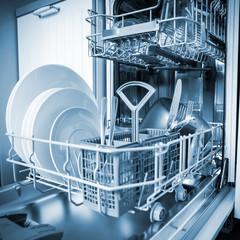 Open dishwasher machine