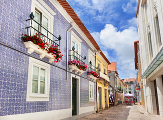 The cozy area in the old town Aveiro, Portugal