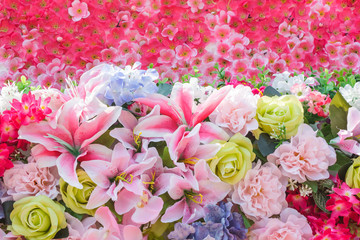 mix bunch flower background.