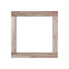 Old wooden frame isolated.