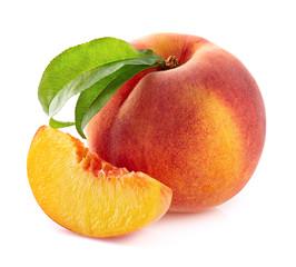 Peach with slice