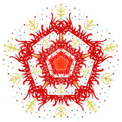 The vector abstract image of a flower