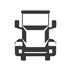 truck silhouette transportation delivery icon. Isolated and flat illustration. Vector graphic