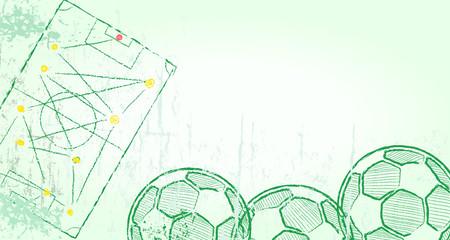 Football or Soccer design template, good copy space, vector