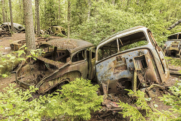 Car Junkyard in Sweden.