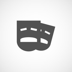 drama icon black
