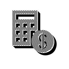 ikona ze wzorku pasków i kresek