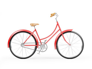 red bicycle vintage