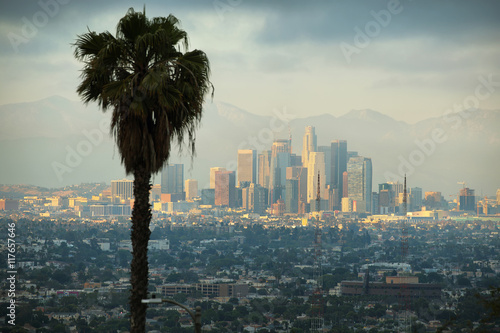 Wall mural Downtown Los Angeles skyline