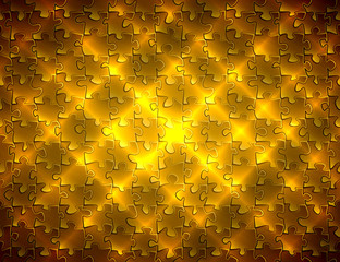 background pattern puzzle pieces glowing with diagonal gold stripes