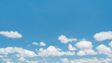 White clouds with blue sky in summer