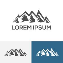 Mountain Logo Design Template v.10