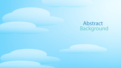 cloud blue color background abstract art vector
