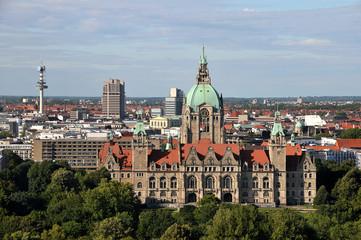 Hannover mit Neuem Rathaus