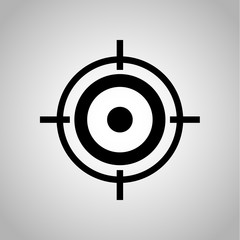 Target for biathlon icon on the background