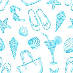 Summer seamless pattern.