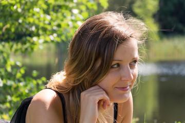 woman portrait in summer