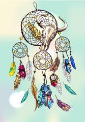 illustration of dreamcatcher
