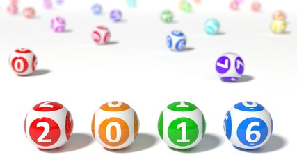 3d illustration of lottery balls. word with lottery balls