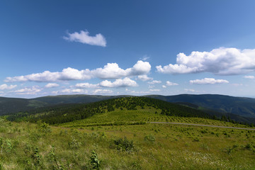 Jeseniky mountains in nice summer day