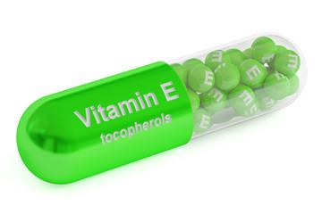 Vitamin E capsule, 3D rendering