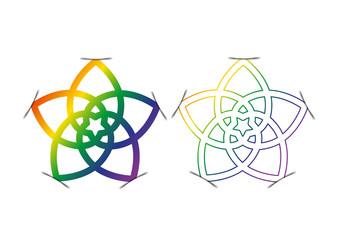 Venusblume - Blume der Liebe - Pride - Regenbogen - Schatten