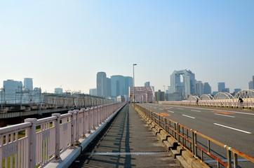 新十三大橋から梅田方面を望む