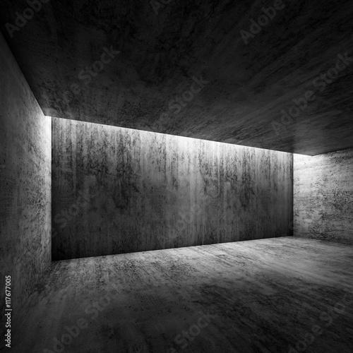 abstract dark concrete interior of empty room 3d imagens e fotos de stock royalty free no. Black Bedroom Furniture Sets. Home Design Ideas