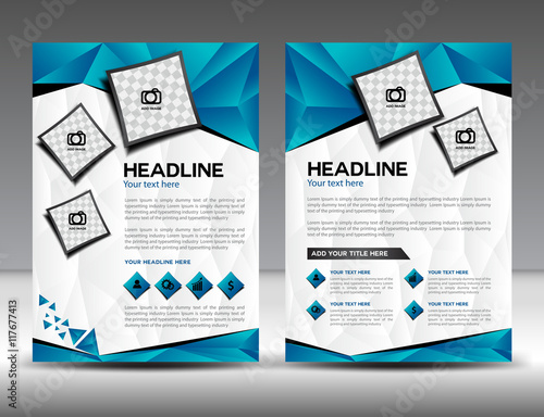 set of business brochure flyer design layout template in a4 size