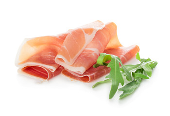 Sliced of prosciutto ham