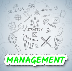 Management Ideas Indicates Boss Contemplate And Decision