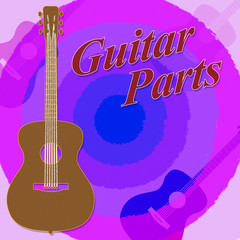 Guitar Parts Represents Rock Kit And Assemble