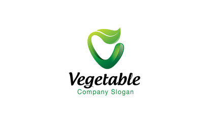Vegetable Logo Design Illustration