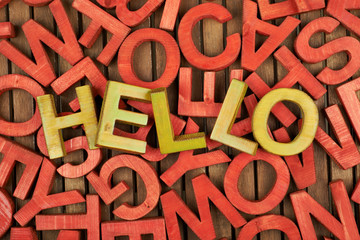 Word Hello made of letters