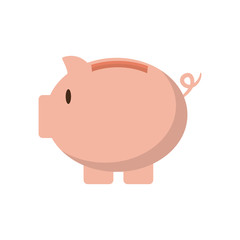 piggy money financial item commerce icon. Isolated and flat illustration. Vector graphic
