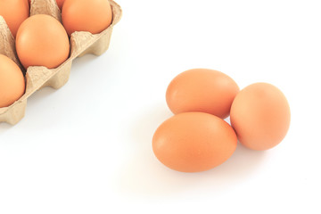 eggs isolated on a white background, Closed up