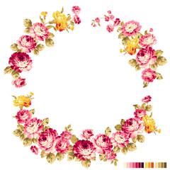 バラ 装飾フレーム