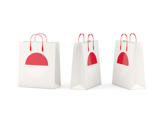 Flag of indonesia on shopping bags