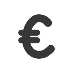 euro sign money financial item icon. Isolated and flat illustration. Vector graphic