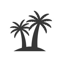 palm tree plant nature season icon. Isolated and flat illustration. Vector graphic