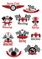 Motorsports, racing and rally icons