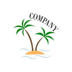 Excursion, summer, sea, excursions logo in vector EPS 10