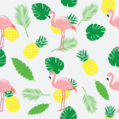 Vector Flamingos Seamless