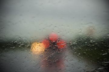 Rain on driving