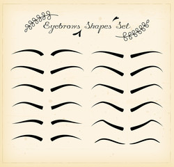 Eyebrows set vector