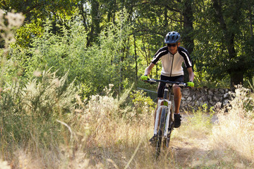cycling with mountain bike outdoor