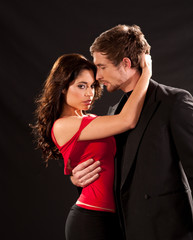 Sensual Couple dancing the Tango